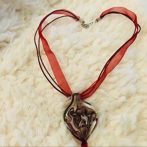 Hand-blown Glass Art Necklace